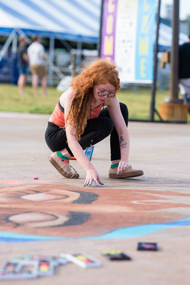 MisFEST 2018 - Chalk Artist Jill Selene